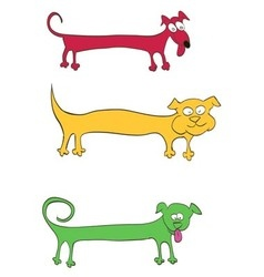 Long dog for inscriptions on the body vector