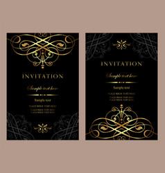 Luxury invitation card template for design vector