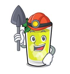 Miner mint julep mascot cartoon vector