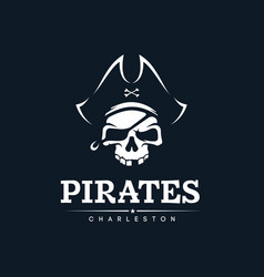 modern professional emblem pirates for american vector image