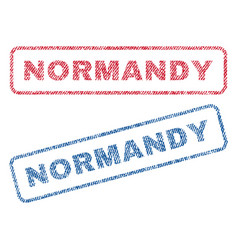 Normandy textile stamps vector