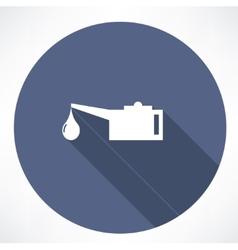 Oiler single flat icon vector image