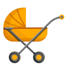 orange baby pram icon cartoon style vector image
