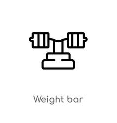 Outline weight bar icon isolated black simple vector