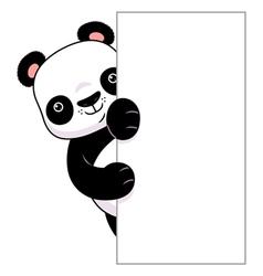 Panda vertical banner vector image