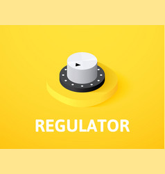Regulator isometric icon isolated on color vector