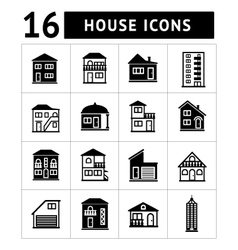 set house icons vector image