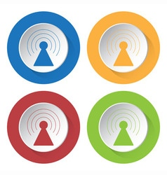 Set of four icons - transmitter vector