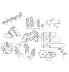 set of infographics book coloring book vector image