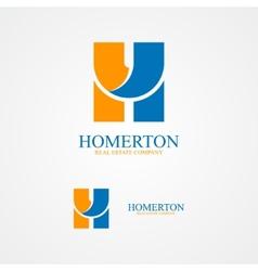 Set of letter H logo for design template elements vector image