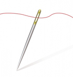 Sew needle thread vector