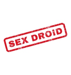 Sex Droid Rubber Stamp vector