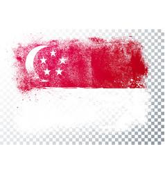 Singapore grunge flag background vector
