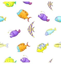 Species of fish pattern cartoon style vector image