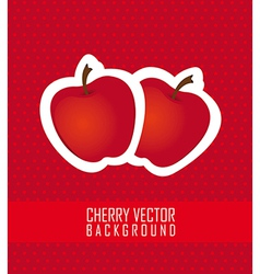 stickers apple red dot background vector image