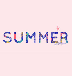 Summer time wallpaper typographical background vector