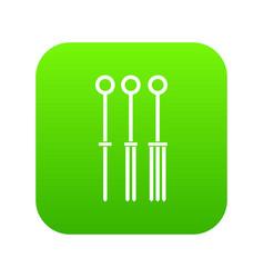 Tattoo needles icon digital green vector