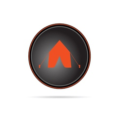 Tent on button vector