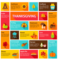 thanksgiving infographic concept vector image