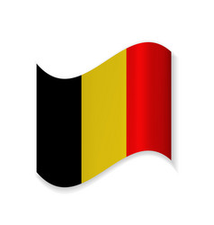 the flag of belgium vector image