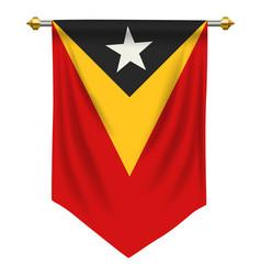 Timor leste pennant vector