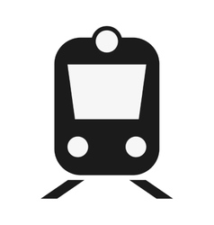 Train frontview icon vector