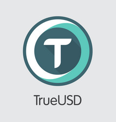 Trueusd cryptographic currency - icon vector