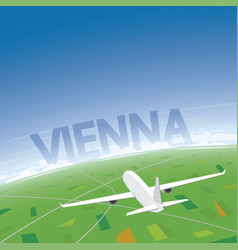 Vienna flight destination vector