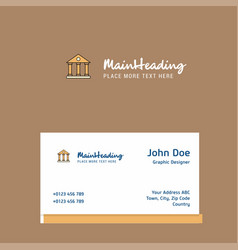 villa logo design with business card template vector image