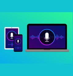 Voice recognition search speech detect concept vector