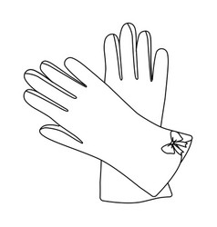 Warm burgundy gloves for hands female winter vector