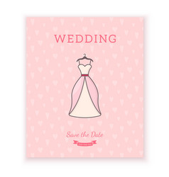 wedding card template vector image