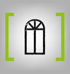 window simple sign black scribble icon in vector image