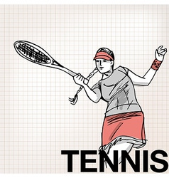 Woman playing tennis vector image