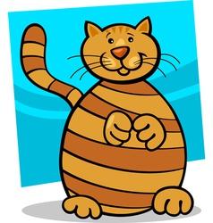 Yellow tabby cat vector