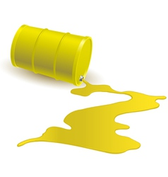 Barrel with yellow liquid vector image