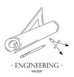 engineering logo vector image vector image