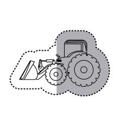 figure backhoe loader icon vector image