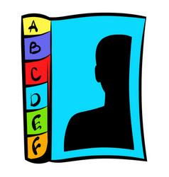 phone book icon icon cartoon vector image vector image