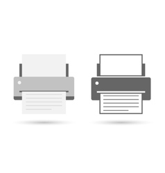 Printer icon flat vector image vector image