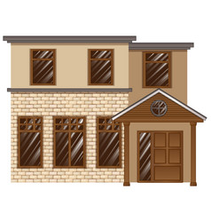 building made with bricks vector image vector image