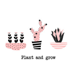 pland and grow vector image