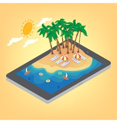 Summertime Tropical Vacation Isometric Concept vector image vector image