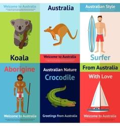 Australia mini poster set vector