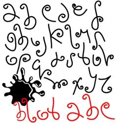 blot ABC vector image