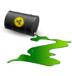 Chemical barrel vector image vector image