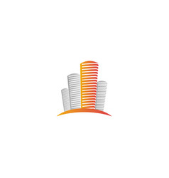 isolated abstract city skyscraper logourban real vector image vector image