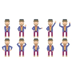 Set of circus artist characters vector