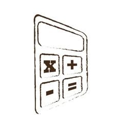 sketch draw calculator finance objetc office vector image