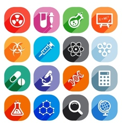 Trendy Flat science icons elements vector image